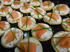 Smoked Salmon & cream cheese blinis